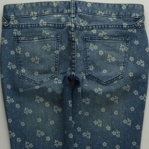 Free People Floral Skinny Jeans Women's 26 A437J